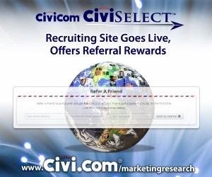 Civicom® CiviSelect™ Recruiting Site Goes Live, Offers Referral Rewards