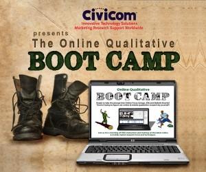 Civicom MRS Presents The Online Qualitative BOOT CAMP