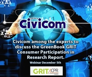 Civicom Joins Panel of Experts on GreenBook GRIT Consumer Research Report