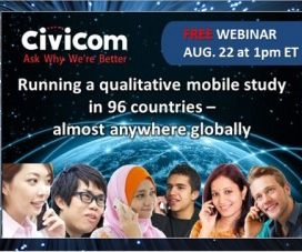 Civicom To Demonstrate How Mobile Qual Research Works in 96 Countries