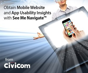 Civicom® Webinar to Demonstrate Mobile App and Website Usability Testing With See Me Navigate™