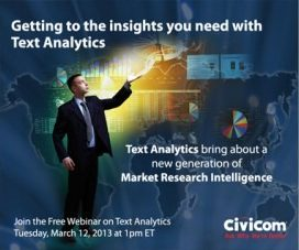 Civicom Webinar to Demonstrate How Text Analytics Tools Speed the Path to Data Analysis