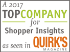 A 2017 Top Company for Global Research as seen in Quirk's Magazine
