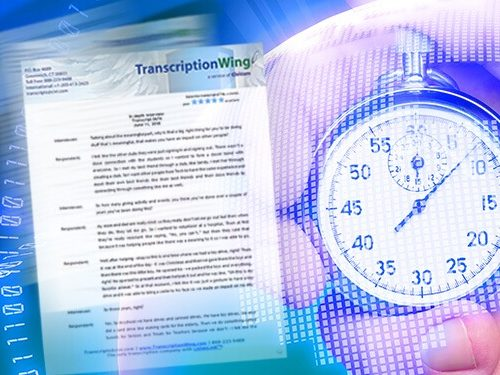 Rush transcript delivery available for any services for market research transcription