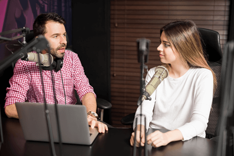 Customer case study about podcasts