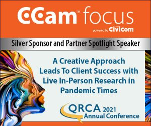 Ccam focus 2021 QRCA Silver Sponsor and Partner