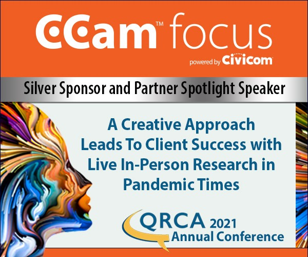 Ccam focus 2021 QRCA Silver Sponsor and Partner