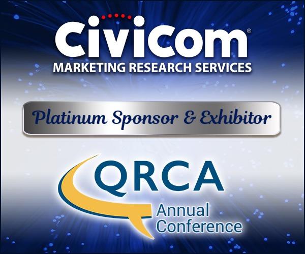 Civicom Marketing Research Services QRCA Platinum Sponsor & Exhibitor 2021