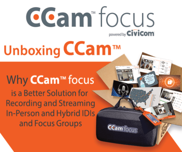 Why CCam™ focus is a Better Solution for Recording and Streaming In-Person Research